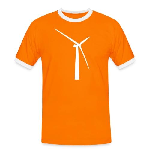 T-Shirt 4 weiß - Männer Kontrast-T-Shirt