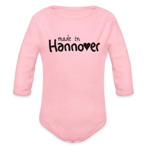 Langarmbody Babys made in Hannover - Baby Bio-Langarm-Body