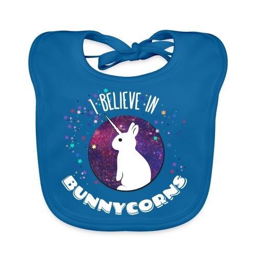 I believe in bunnycorns - Baby Bio-Lätzchen
