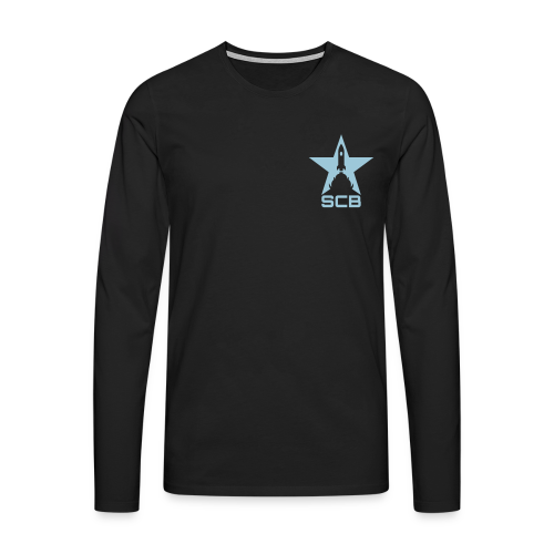 SCB - Langarm Men - Männer Premium Langarmshirt