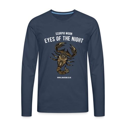 Scorpio Moon Men's Premium Longsleeve Shirt - Men's Premium Longsleeve Shirt