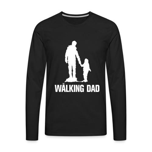 Walking Dad, Druck weiß - Männer Premium Langarmshirt