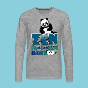 Men's T-Shirt Bad panda, be zen or not - Men's Premium Longsleeve Shirt