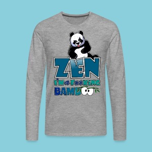 Men's T-Shirt Bad panda, be zen or not - Men's Premium Longsleeve Shirt