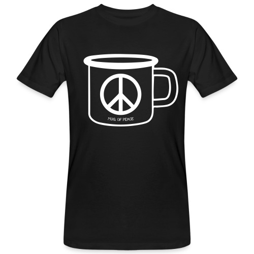 Mug Of Peace T-Shirt / White Mug - Männer Bio-T-Shirt
