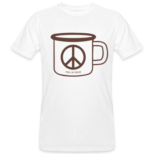 Mug Of Peace T-Shirt / Brown Mug - Männer Bio-T-Shirt