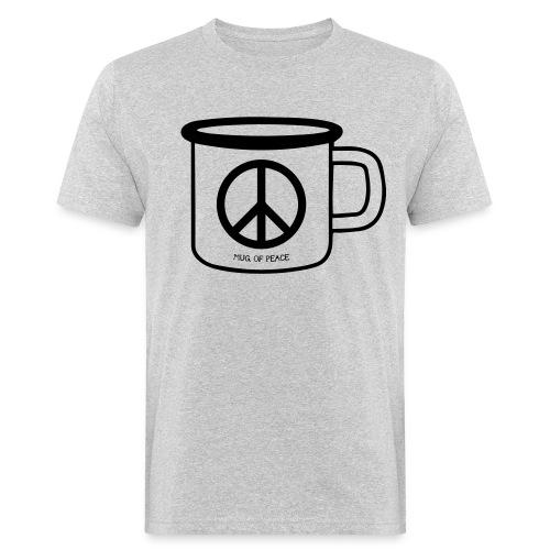 Mug Of Peace T-Shirt / Black Mug - Männer Bio-T-Shirt