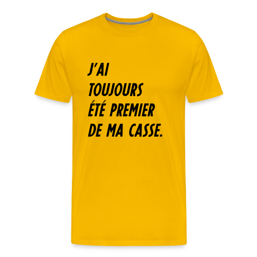 Teesh Premier de casse jaune - T-shirt Premium Homme