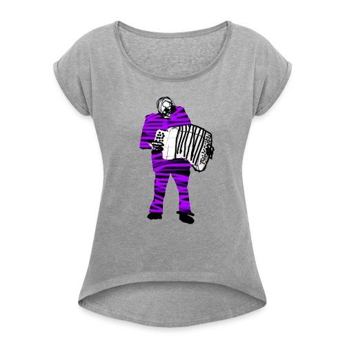 accordeon - Frauen T-Shirt mit gerollten Ärmeln