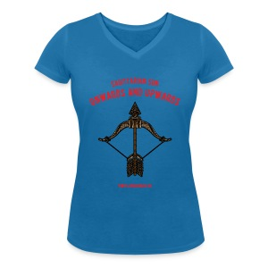 Sagittarius Sun Women's V-Neck T-Shirt - Women's Organic V-Neck T-Shirt by Stanley & Stella