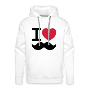 I Love Moustaches - Movember - Men's Premium Hoodie