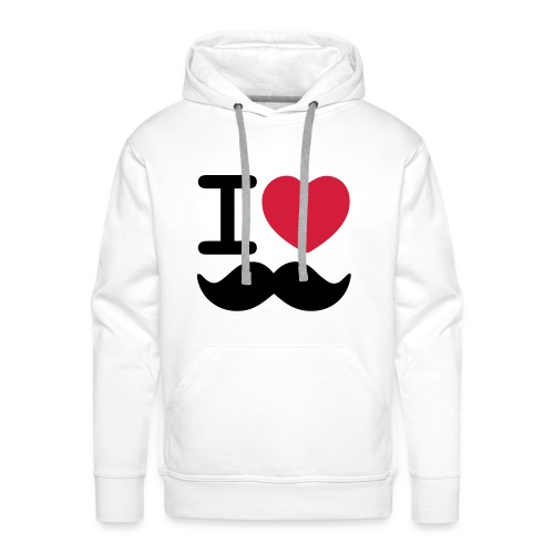 I Love Moustaches - Movember - Men's Premium Hoodie
