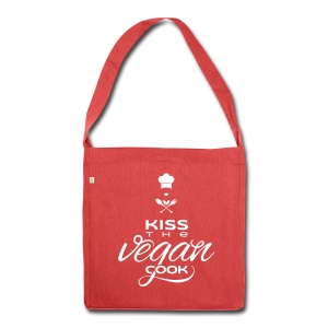 Kiss the vegan (LADY) Cook! RECYCLING-Bag - Schultertasche aus Recycling-Material