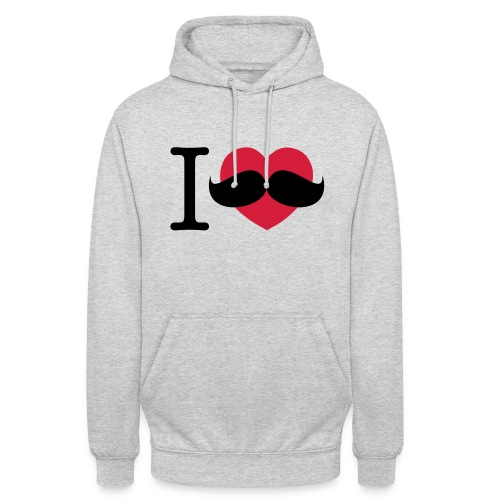I Love Moustaches - Movember - Unisex Hoodie