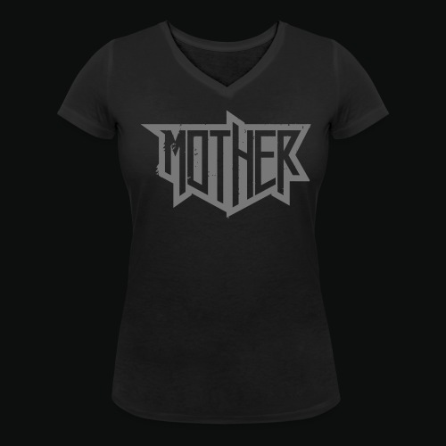 Mother Shirt Wrecked ladies grey - Frauen Bio-T-Shirt mit V-Ausschnitt von Stanley & Stella