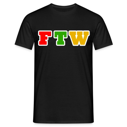 FTW T-Shirt Black Design - Men's T-Shirt