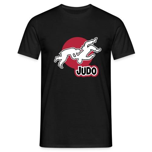 Schulterwurf Direktdruck - Männer T-Shirt