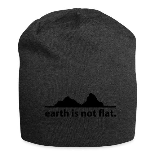 Mütze earth is not flat - Jersey-Beanie