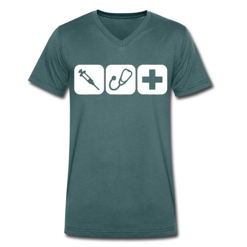 T-Shirt Spritze - Männer Bio-T-Shirt mit V-Ausschnitt von Stanley & Stella