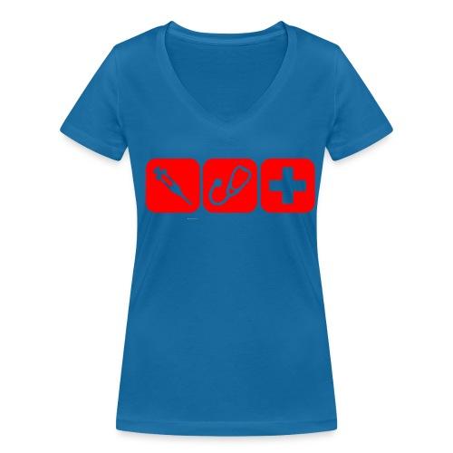 T-Shirt Spritze - Frauen Bio-T-Shirt mit V-Ausschnitt von Stanley & Stella