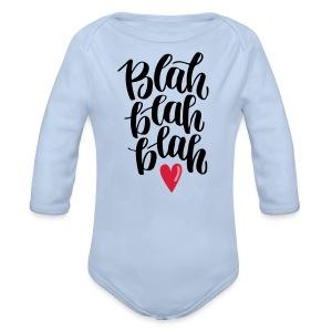 Blah blah blah Babybody Langarm - Baby Bio-Langarm-Body