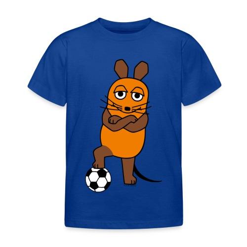 Maus mit Fußball - Kinder T-Shirt