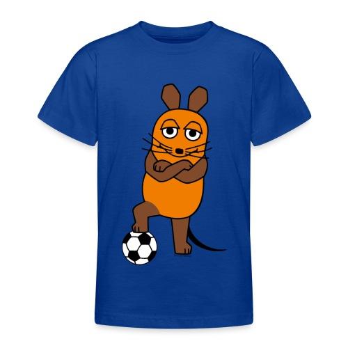 Maus mit Fußball - Teenager T-Shirt