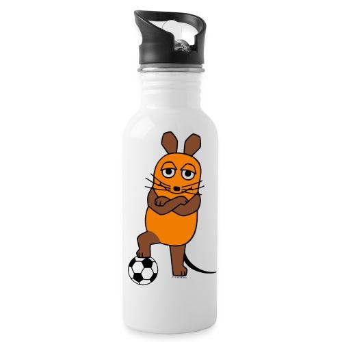 Maus mit Fußball - Trinkflasche