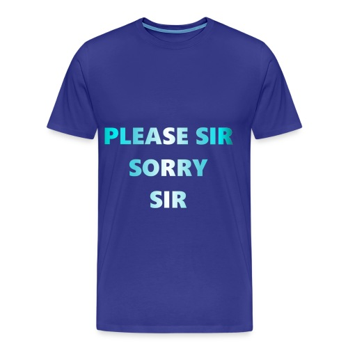 Please sir fuck the police on back - Men's Premium T-Shirt