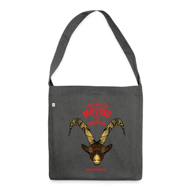 Capricorn Sun Shoulder Bag made from recycled material