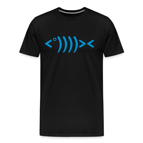 Fish Man Black - T-shirt Premium Homme