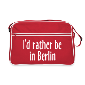 I'd rather be in Berlin Retro Tasche - Retro Tasche