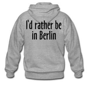I'd rather be in Berlin Kapuzenjacke - Männer Premium Kapuzenjacke