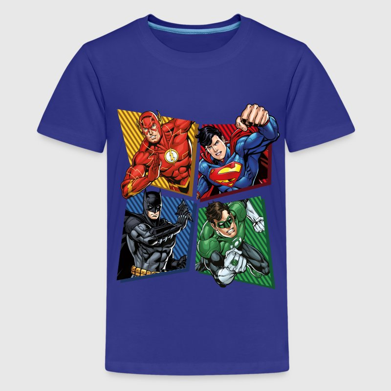 dc comics justice league superhelden t shirt spreadshirt. Black Bedroom Furniture Sets. Home Design Ideas