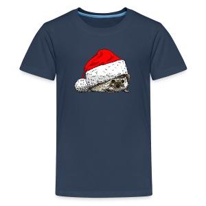 Hedgehog Christmas T-shirt - Teenage Premium T-Shirt