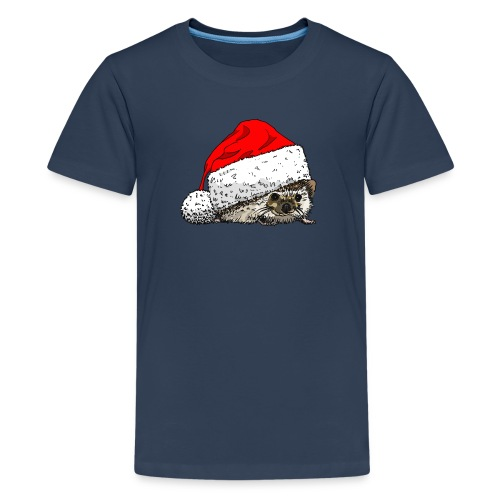 Hedgehog Christmas T-shirt - Teenage Premium T-Shirt