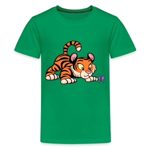 Tiger Cub T-shirt - Teenage Premium T-Shirt