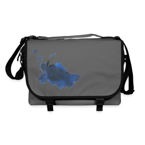 blauer Hase auf weißer Tasche - Umhängetasche