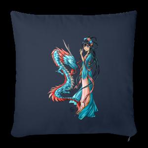Blue Dragon oreiller - Housse de coussin décorative 44x 44cm