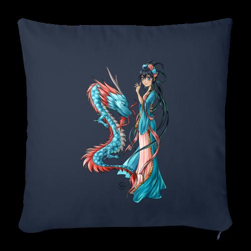 Blue Dragon oreiller - Housse de coussin décorative 45x 45cm