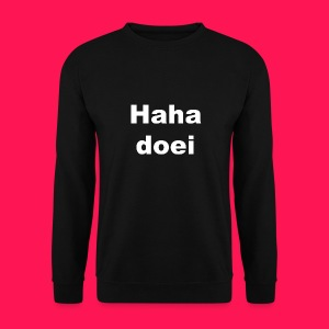 Mannen sweater 'Haha doei' - Mannen sweater