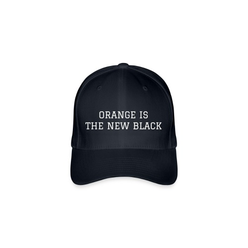 Black  Orange Cap - Flexfit Baseball Cap