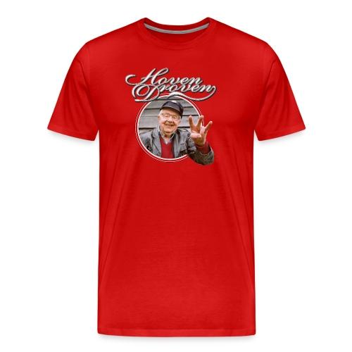 Red mens tee with Turbo album art - Men's Premium T-Shirt