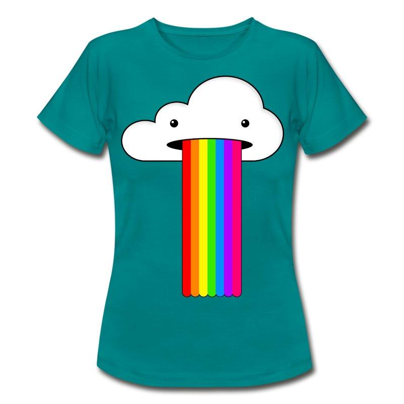 wolke mit regenbogen t shirt spreadshirt. Black Bedroom Furniture Sets. Home Design Ideas