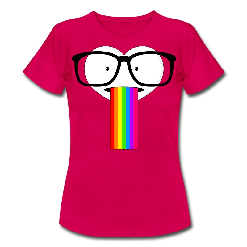 nerd herz mit regenbogen t shirt spreadshirt. Black Bedroom Furniture Sets. Home Design Ideas