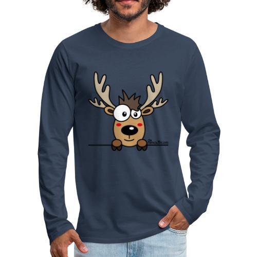 T-shirt ml P Homme, Caribou, Renne, Noël - T-shirt manches longues Premium Homme