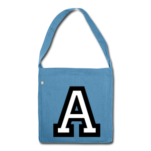 Buchstabe A Recycling Tasche - Schultertasche aus Recycling-Material
