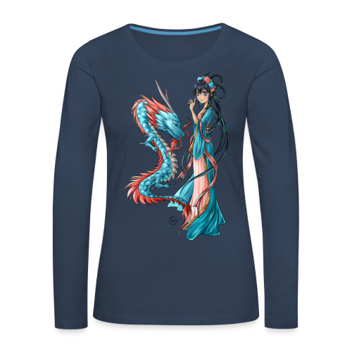 Blue Dragon long shirt - T-shirt manches longues Premium Femme