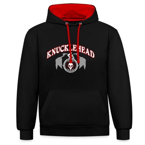 Knucklehead - Sudadera con capucha en contraste