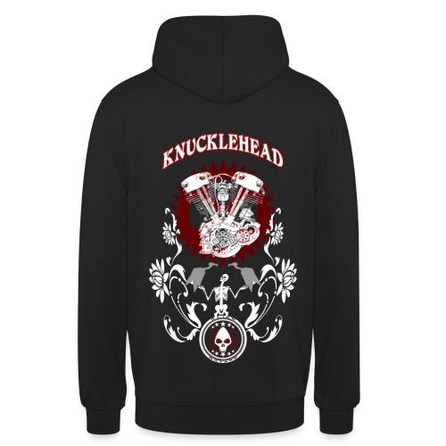 Knucklehead Custom Text - Sudadera con capucha unisex
